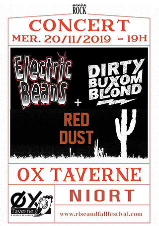 Electric Beans + Dirty Buxom Blond + Red Dust
